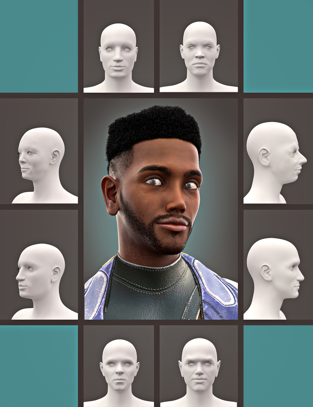 SBibb Diverse World Morphs for 200 Plus for Genesis 8 Male by: SBibb, 3D Models by Daz 3D