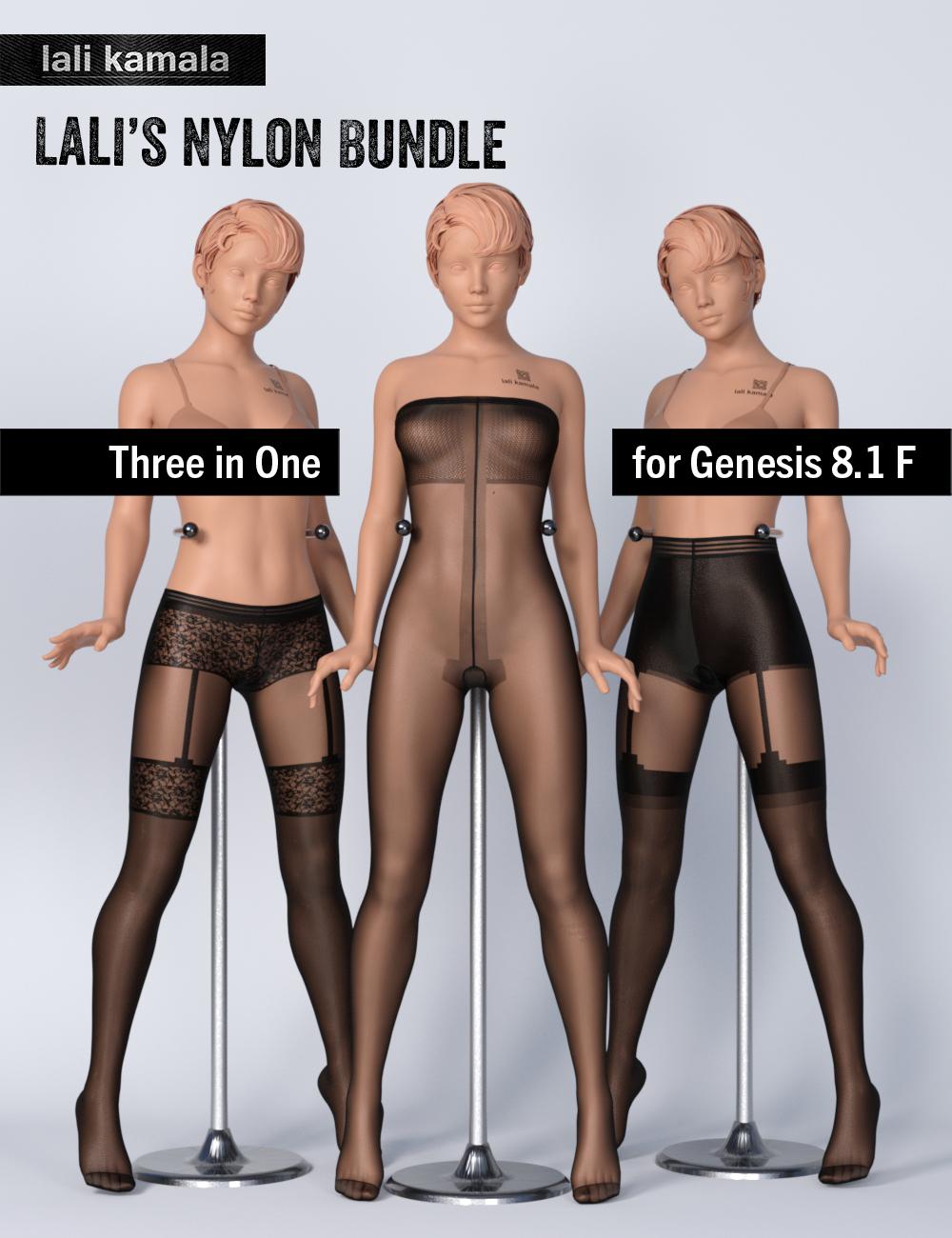Lali's Nylon Bundle 3 in 1 by: Lali Kamala, 3D Models by Daz 3D