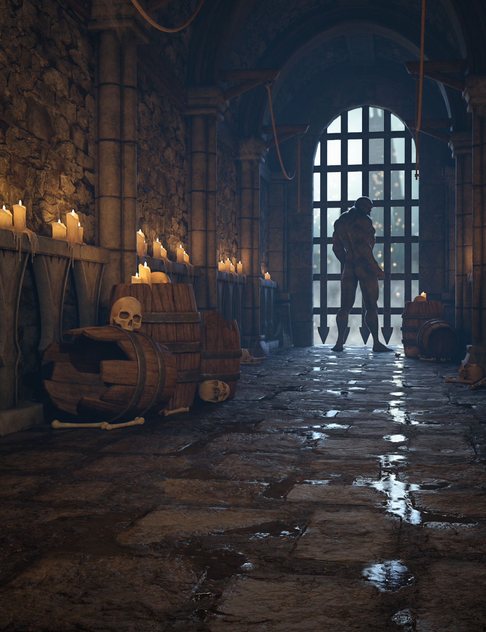 Dungeon Modular by: 3dLab, 3D Models by Daz 3D