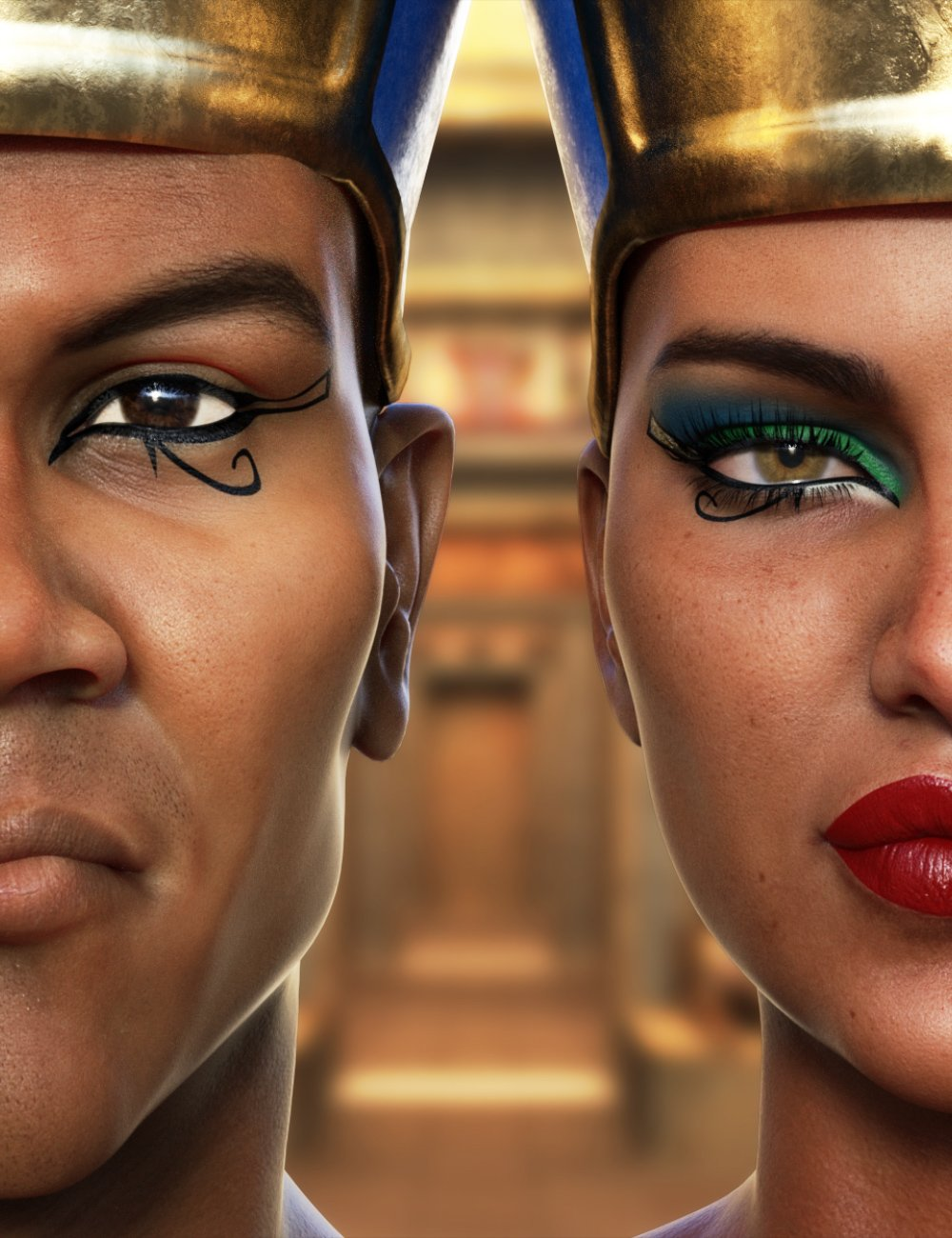 Ancient Egypt Makeup by: Neikdian, 3D Models by Daz 3D