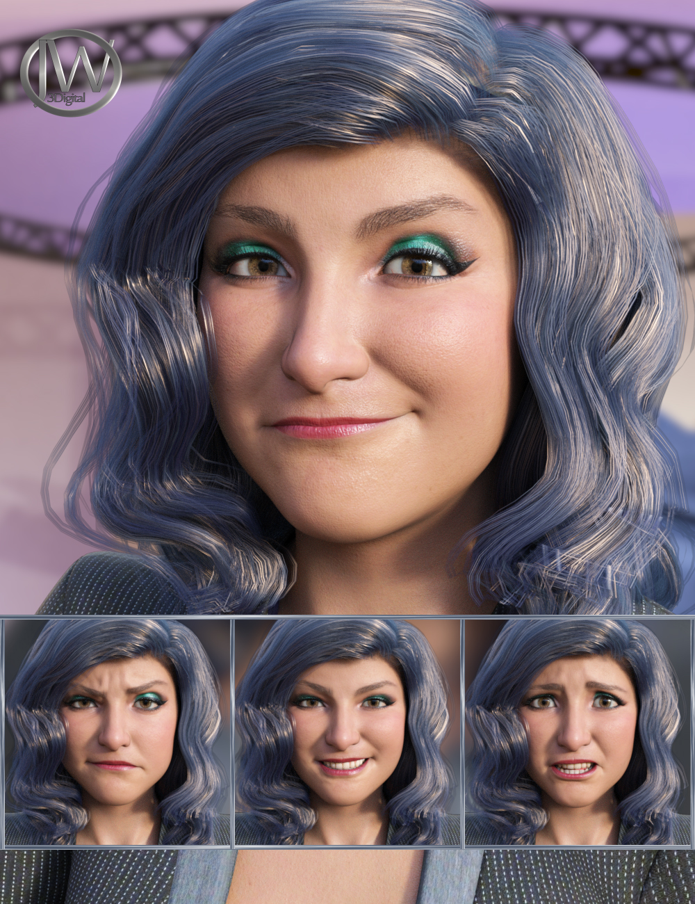 The Journalist - Expressions for Genesis 8.1 Female and Brooke 8.1 by: JWolf, 3D Models by Daz 3D