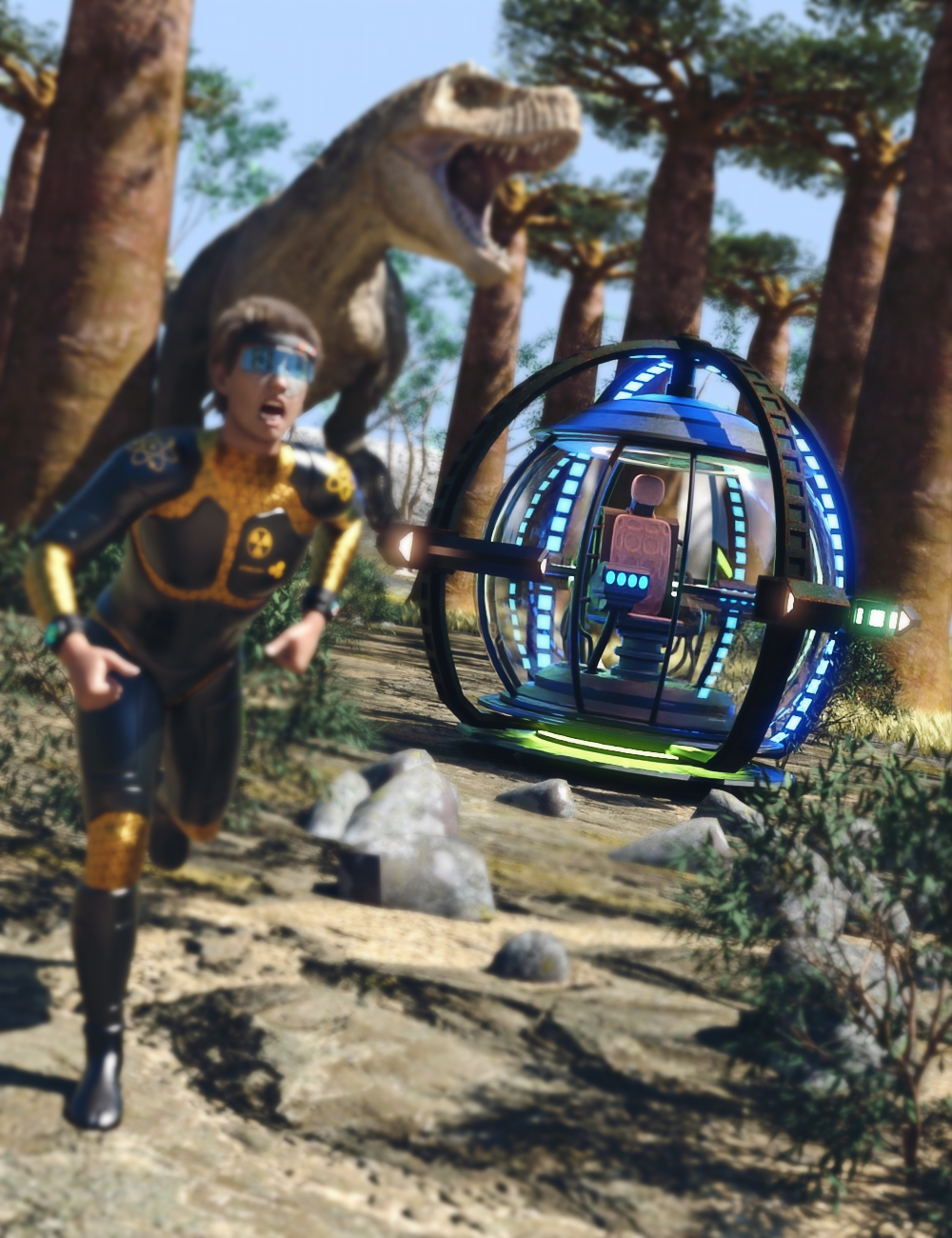 Time Travel Machine by: AcharyaPolina, 3D Models by Daz 3D