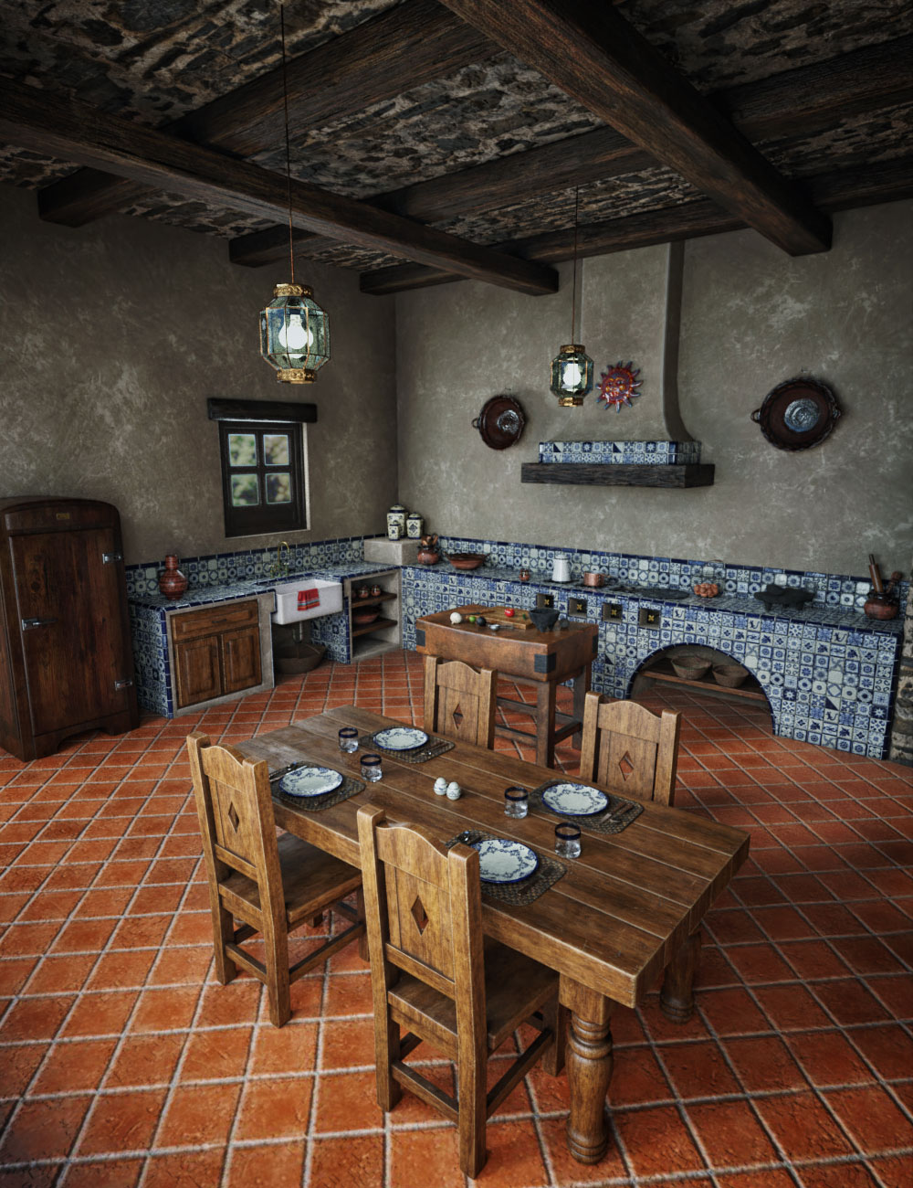Hacienda Kitchen by: Hypertaf, 3D Models by Daz 3D