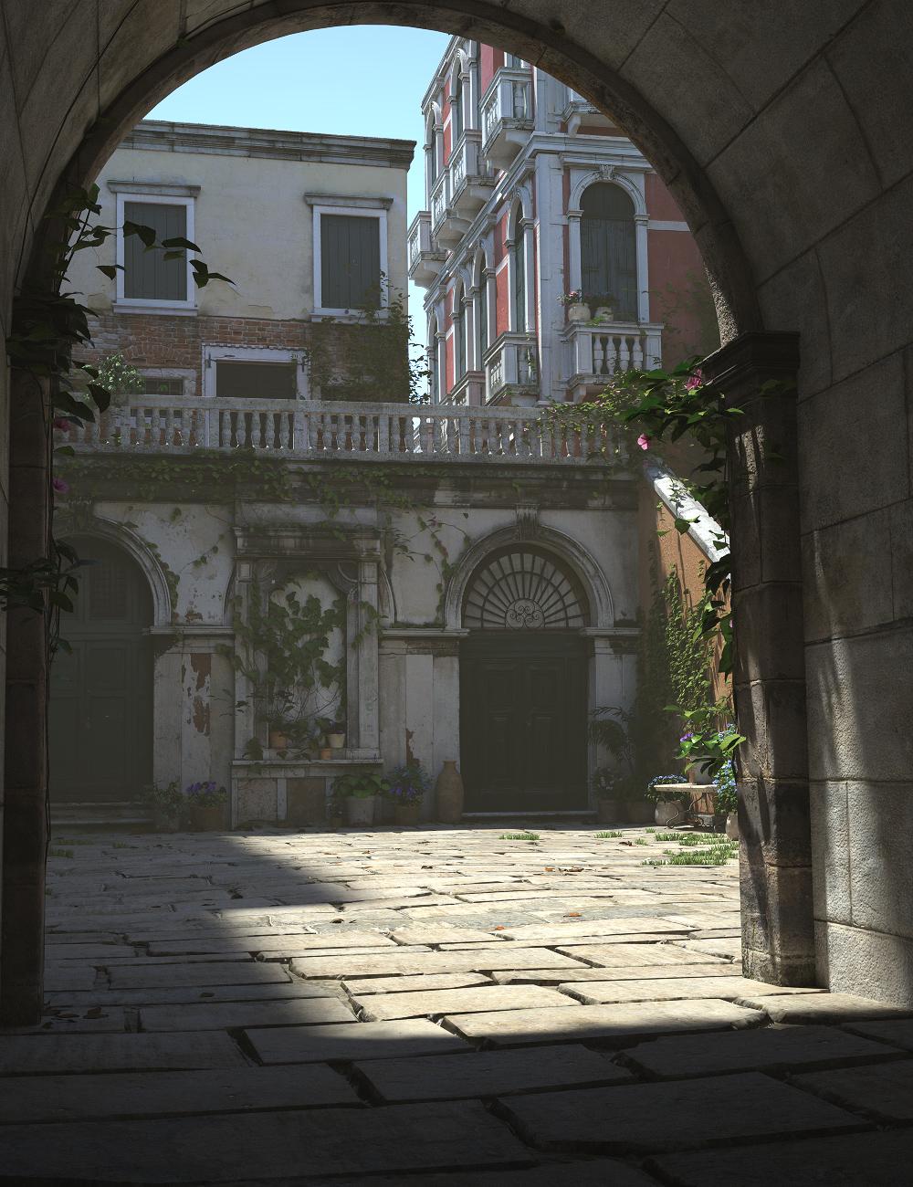 Courtyard Italia by: Stonemason, 3D Models by Daz 3D