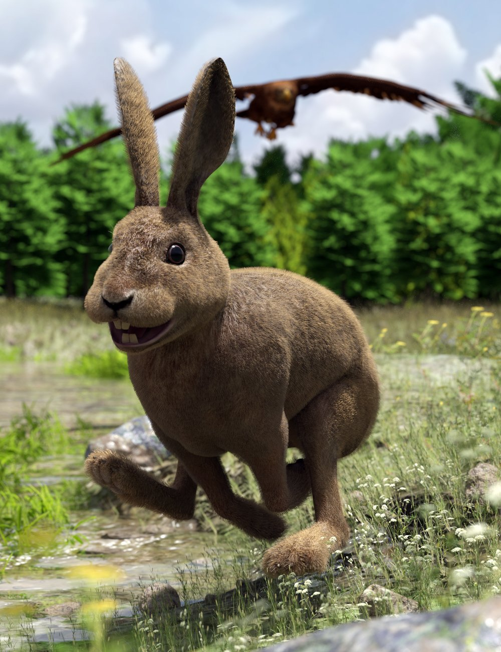 Caesar the Hare for Daz Dog 8 by: Deepsea, 3D Models by Daz 3D