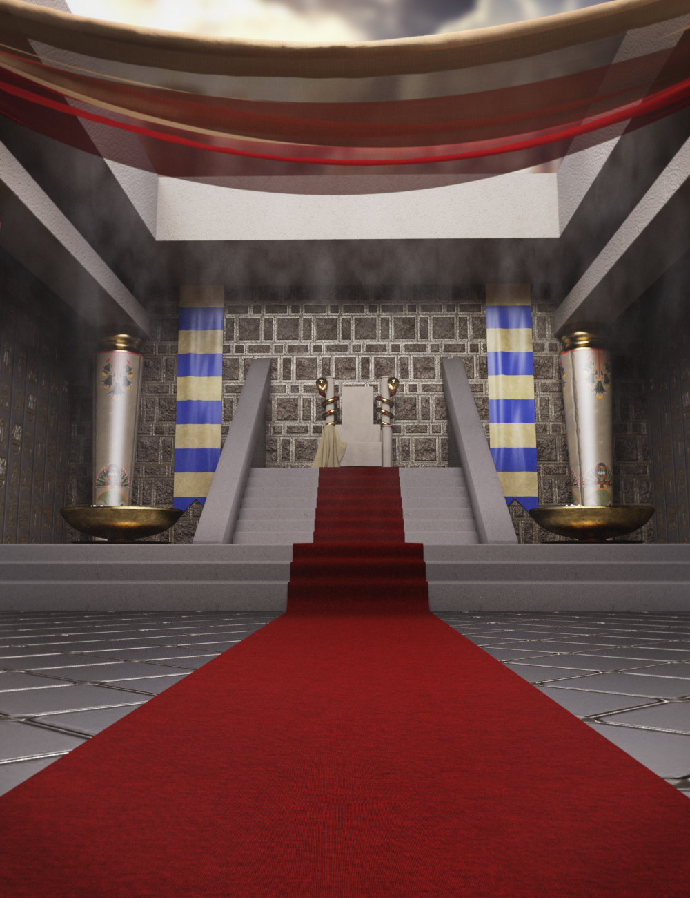 Egyptian Palace by: Neikdian, 3D Models by Daz 3D
