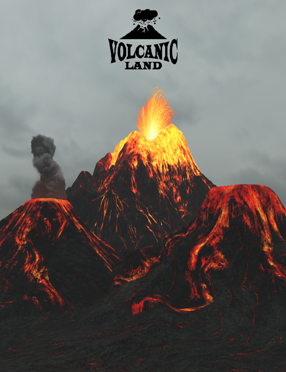Volcanic Land by: 3dLab, 3D Models by Daz 3D