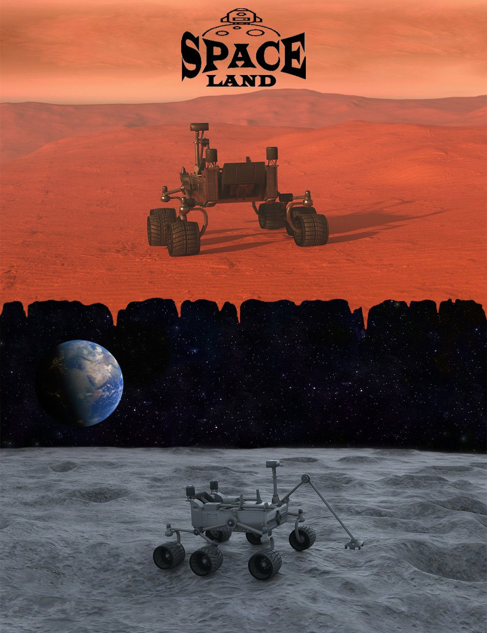 Space Land by: 3dLab, 3D Models by Daz 3D