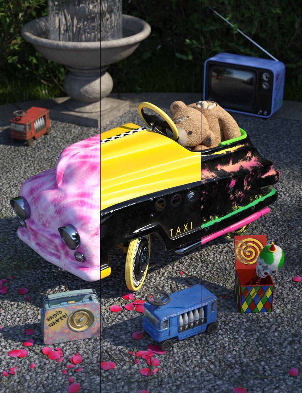 Vintage Toy Car by: ForbiddenWhispersDavid Brinnen, 3D Models by Daz 3D