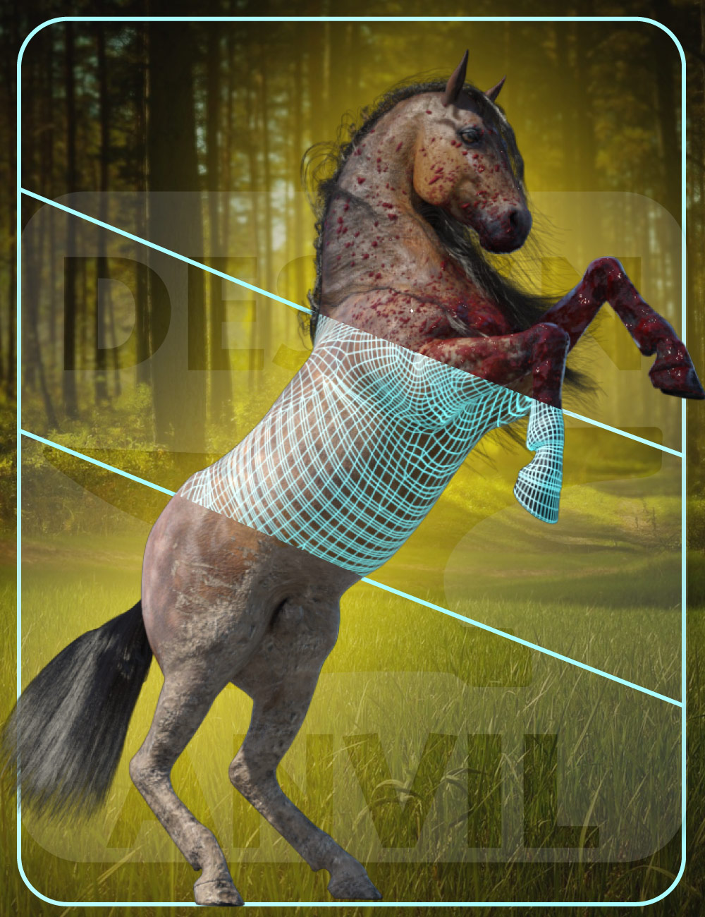 DA Geoshell Toolbox for Horse 2 by: Design Anvil, 3D Models by Daz 3D