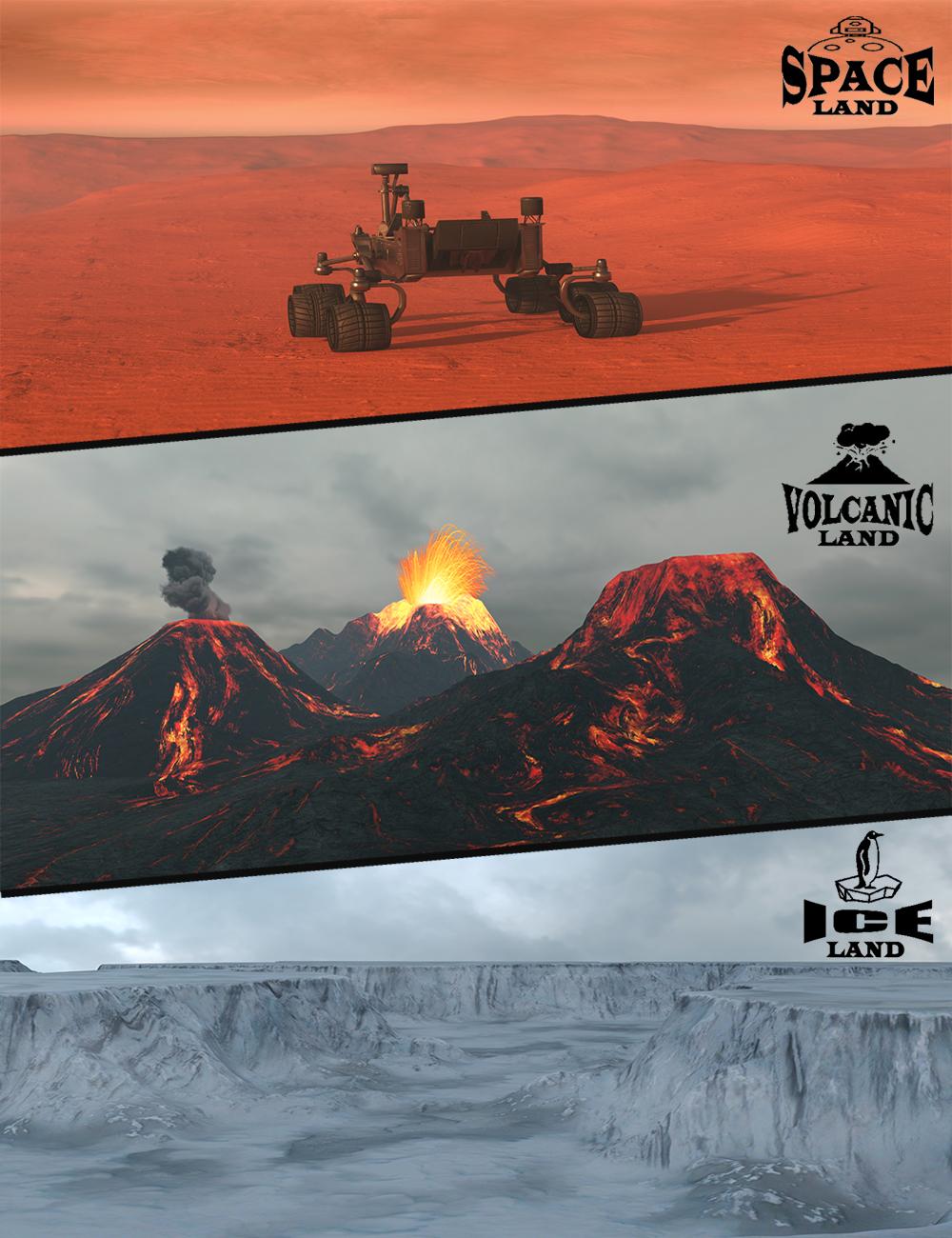 Mega Landscape Bundle 2 by: 3dLab, 3D Models by Daz 3D