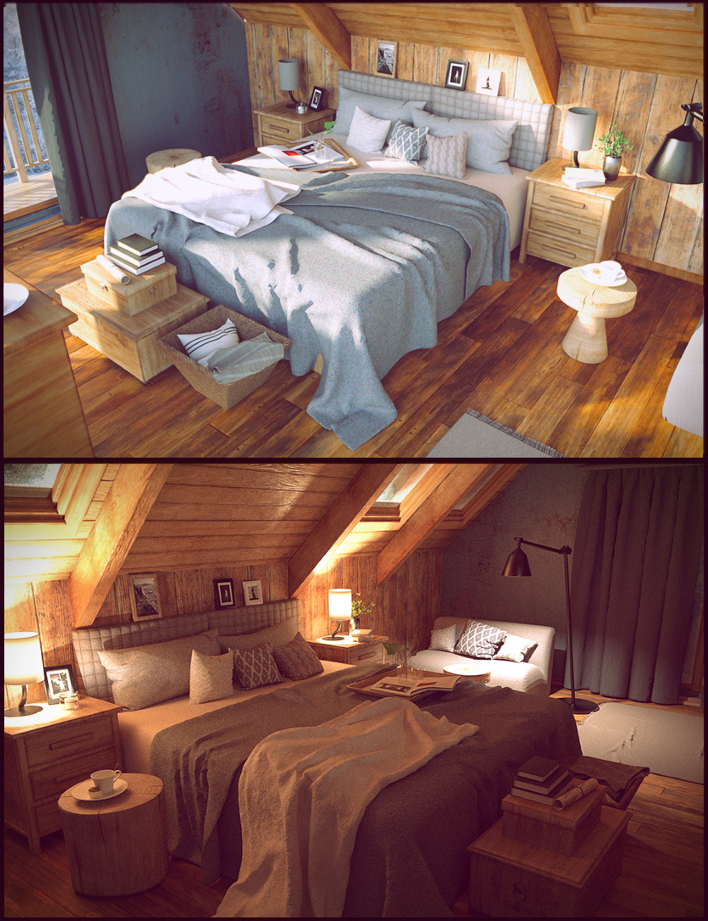 Winter Vacation Bedroom by: Polish, 3D Models by Daz 3D