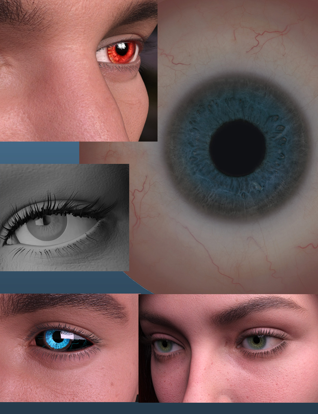 Hyperrealistic Eyes for Genesis 8.1 by: I2D, 3D Models by Daz 3D