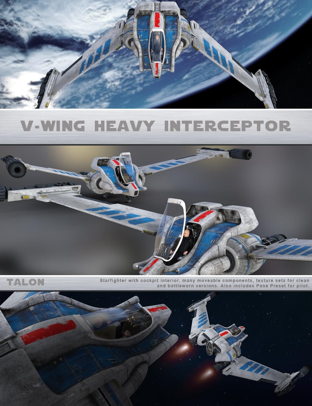 TALON V-Wing Interceptor by: Talon, 3D Models by Daz 3D