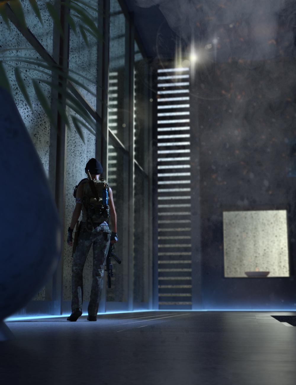 SciFi Room CyberPunk by: DarkEdgeDesign, 3D Models by Daz 3D