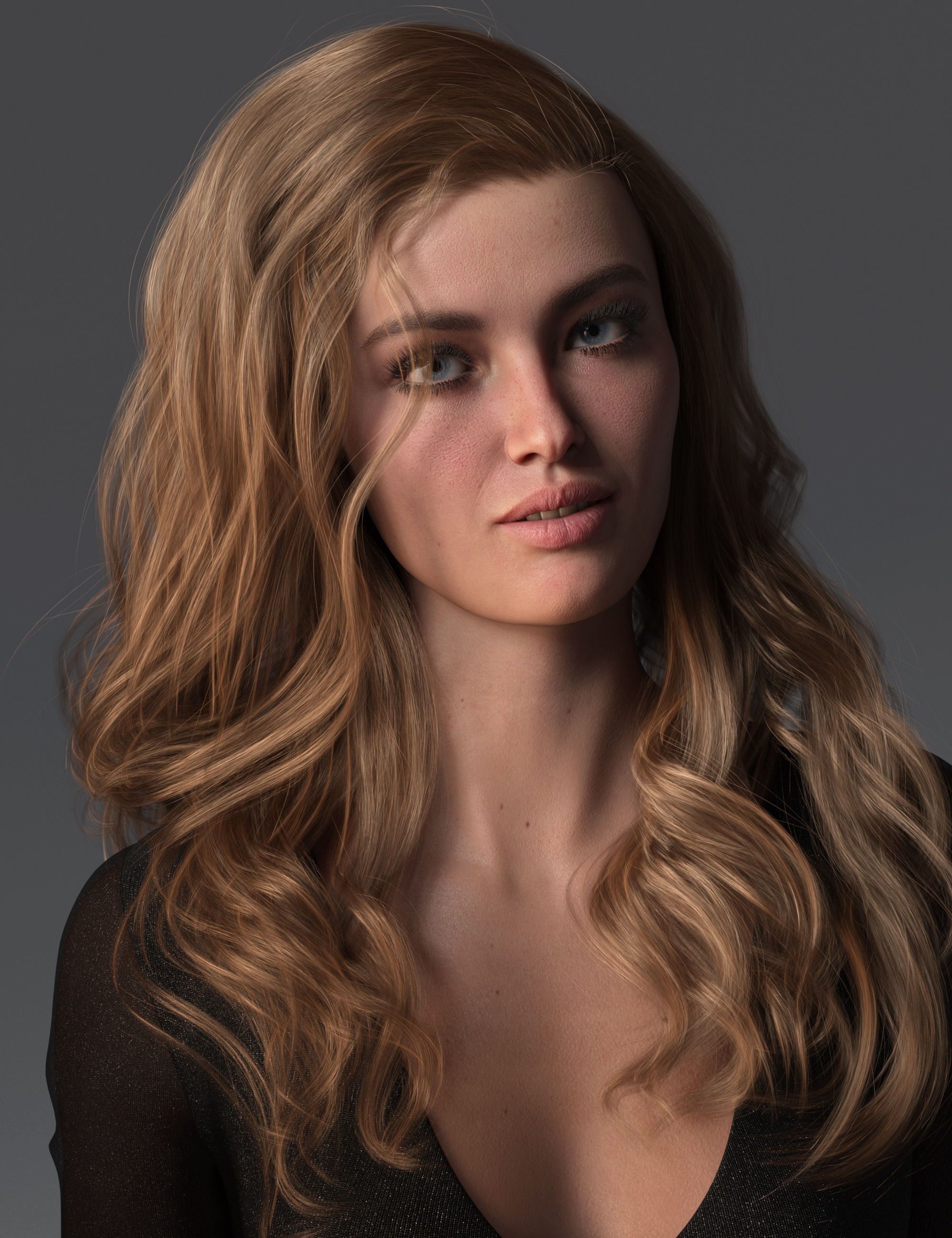 2021-09 Hair for Genesis 8 and 8.1 Females by: outoftouch, 3D Models by Daz 3D