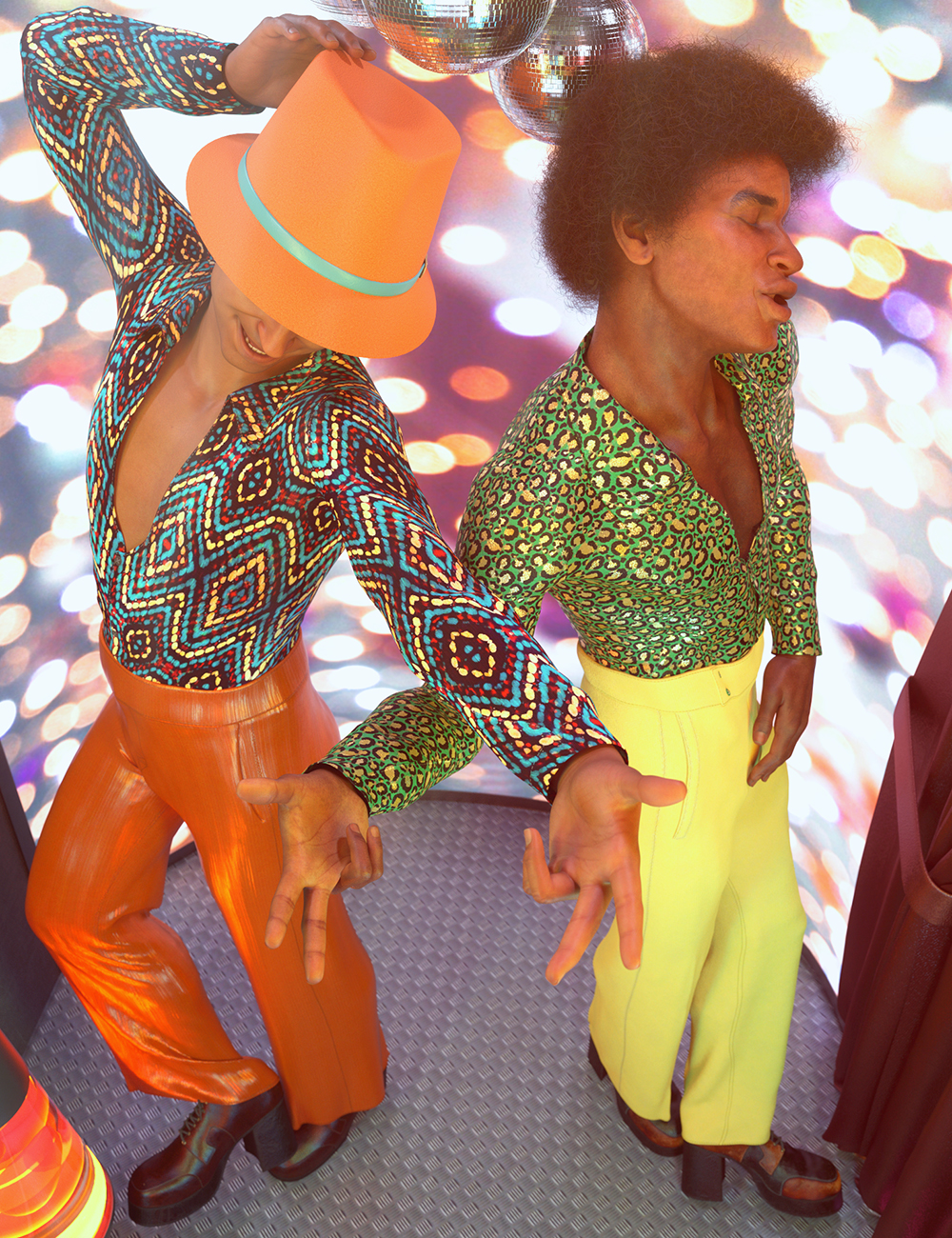 dForce Disco Boogie Outfit Textures by: 3D-GHDesignSade, 3D Models by Daz 3D