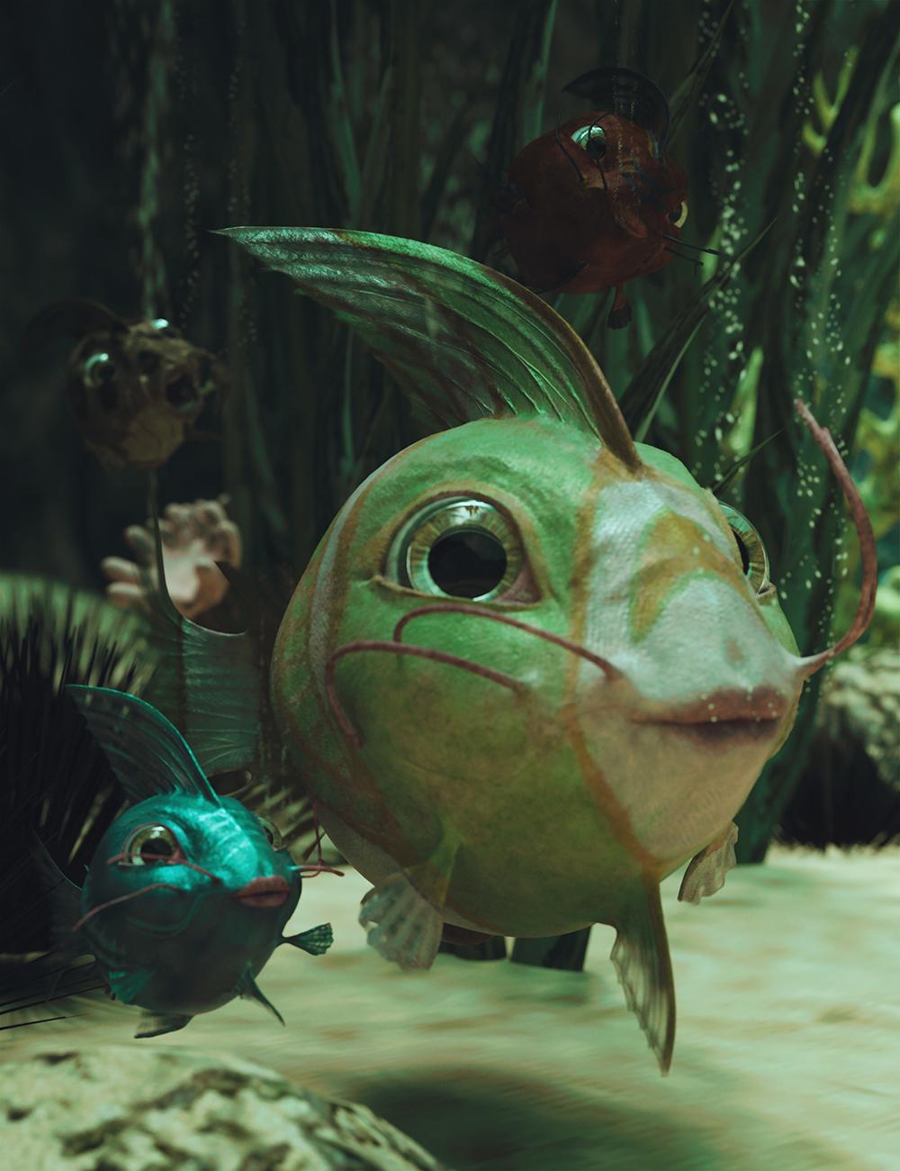 Amipiscus Friendly Fish Original Figure by: Sixus1 MediaSubSpeciesCreations, 3D Models by Daz 3D