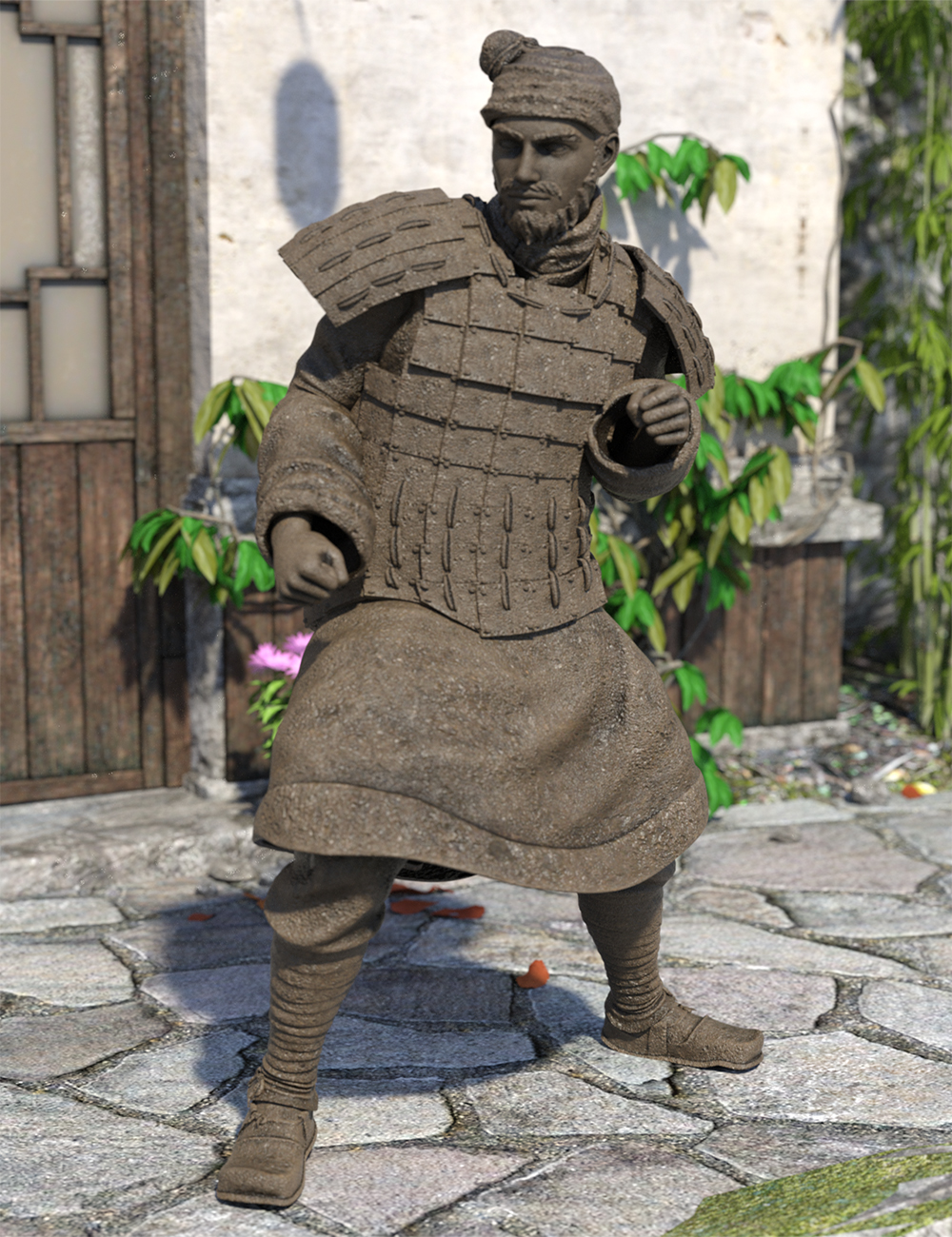 The Action Terracotta Warrior for Genesis 8.1 Male and Michael 8.1 by: Jerry Jang, 3D Models by Daz 3D