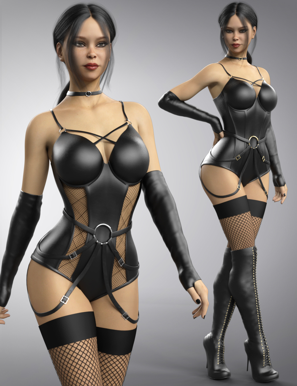 Sexy Leather for Genesis 8 and Genesis 8.1 Females by: B-Rock, 3D Models by Daz 3D