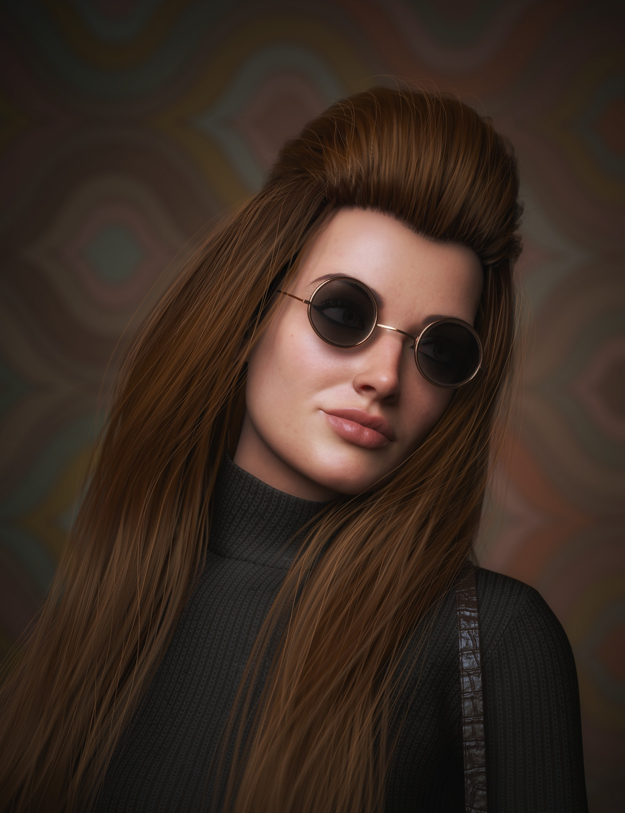 Long Bump Hair for Genesis 3, 8, and 8.1 Females by: Soto, 3D Models by Daz 3D