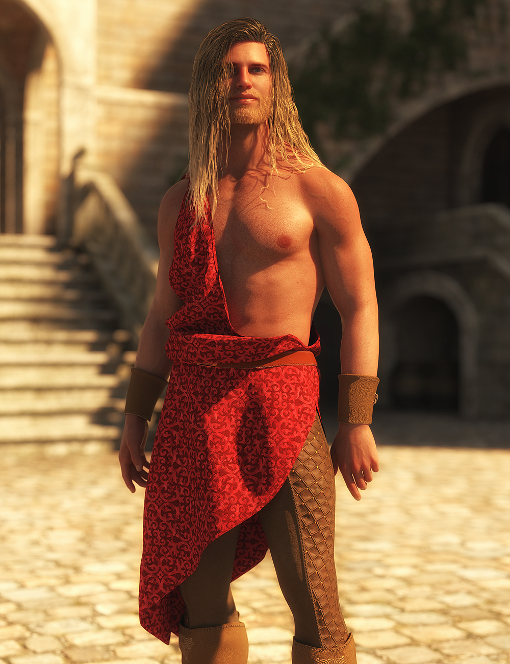 dForce Faënor Outfit for Genesis 8 Males by: AmaranthPixelTizzyFit, 3D Models by Daz 3D