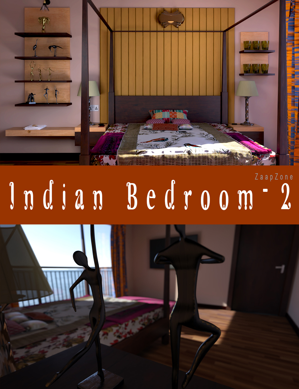 Indian Bedroom 2 by: , 3D Models by Daz 3D