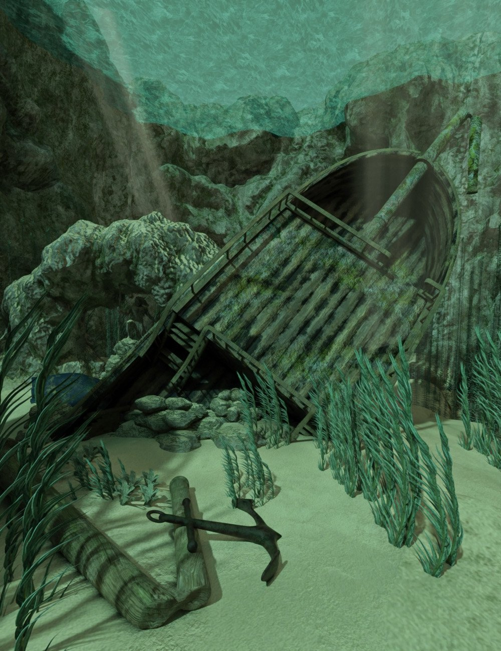 Aquatic Fantasy - Pirates Wreckage by: Sixus1 MediaSubSpeciesCreations, 3D Models by Daz 3D