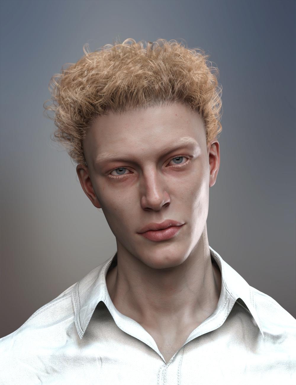 dForce Wayward Curls Hair for Genesis 8 and 8.1 by: RedzStudio, 3D Models by Daz 3D