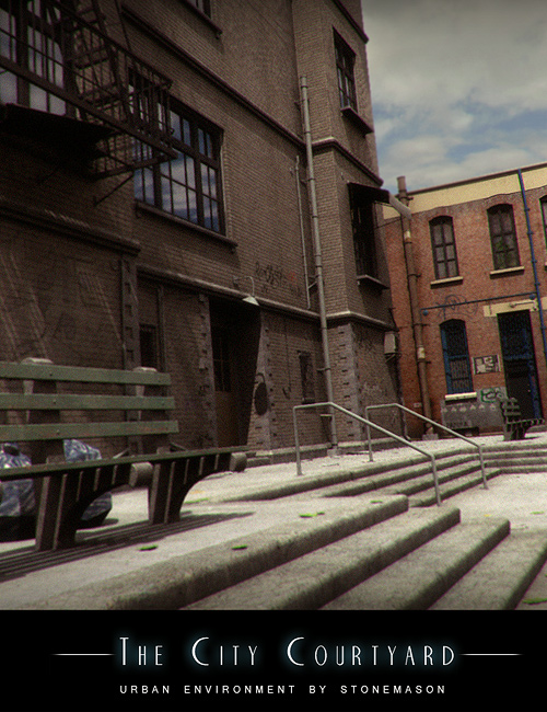 City Courtyard by: Stonemason, 3D Models by Daz 3D