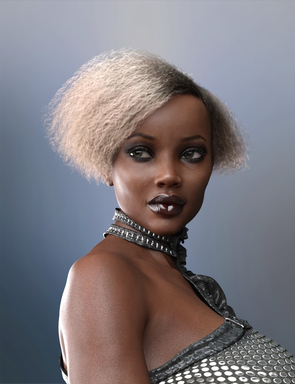 Bobbi Hair for Genesis 8 and 8.1 Female by: RedzStudio, 3D Models by Daz 3D
