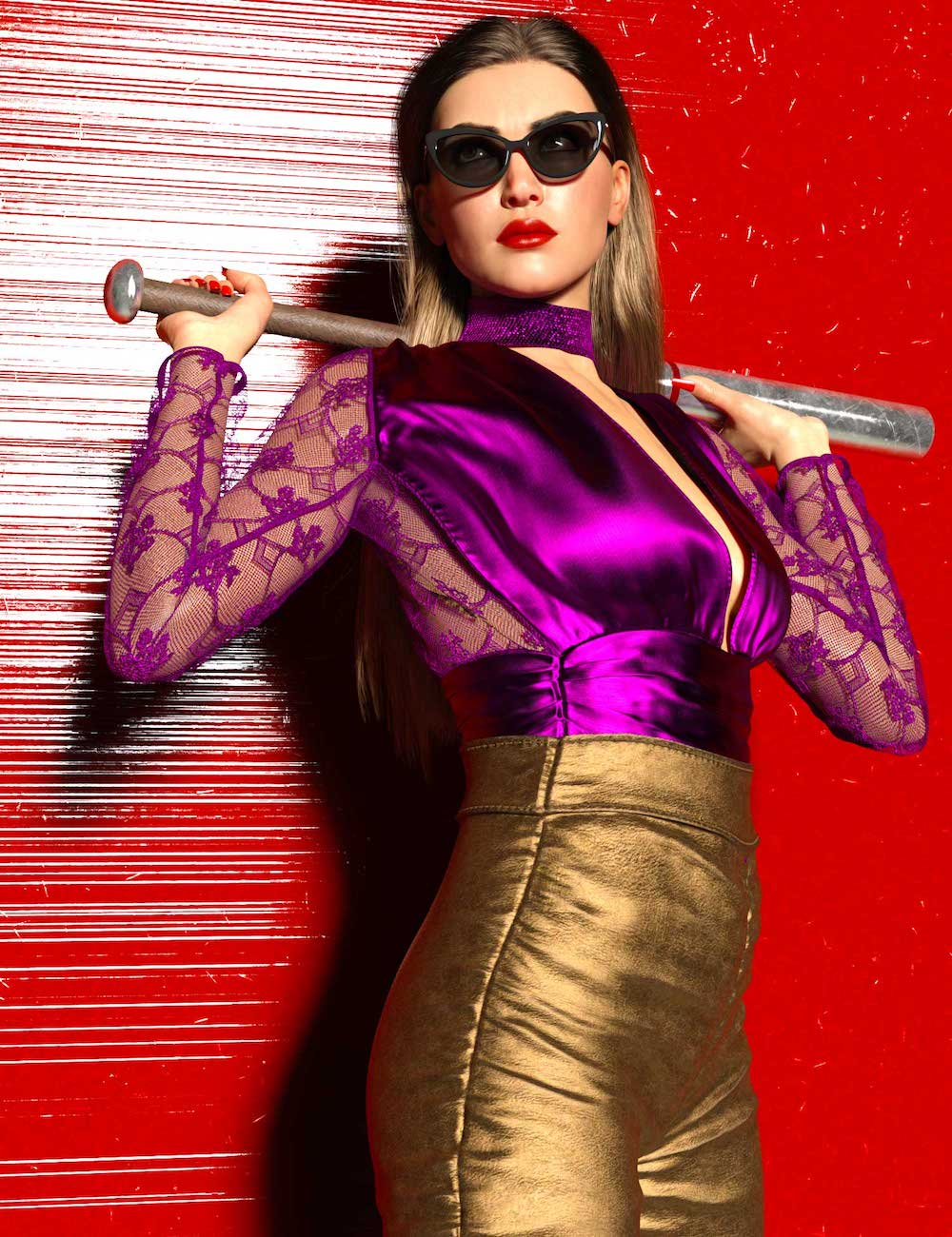 After Dark Leather Outfit Textures by: Linday, 3D Models by Daz 3D