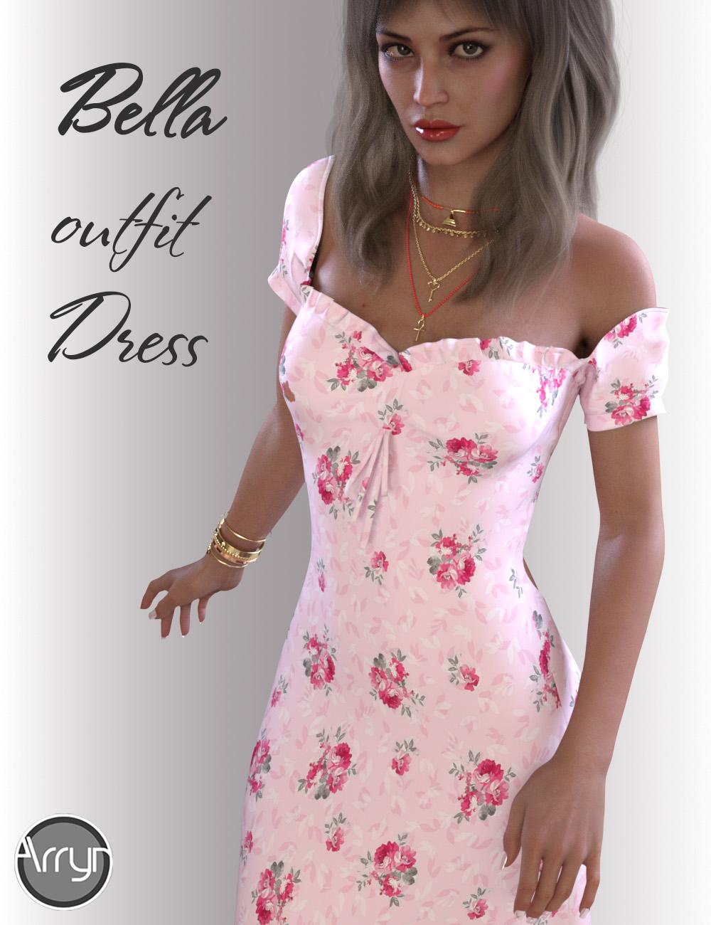 dForce Bella Dress Outfit for Genesis 8.1 Females by: OnnelArryn, 3D Models by Daz 3D