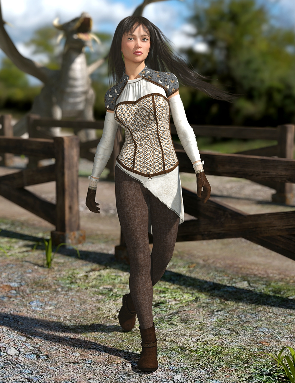 Blackwood Outfit for Genesis 8 Female by: Lyoness, 3D Models by Daz 3D