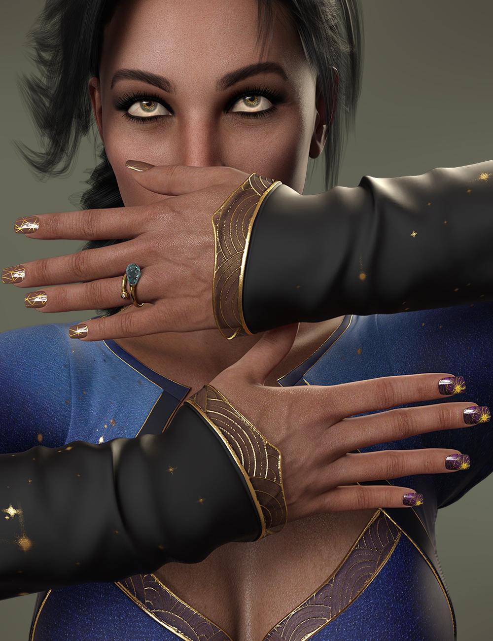 TMHL Nails 2 Merchant Resource for Genesis 8.1 Female by: TwiztedMetalhotlilme74, 3D Models by Daz 3D