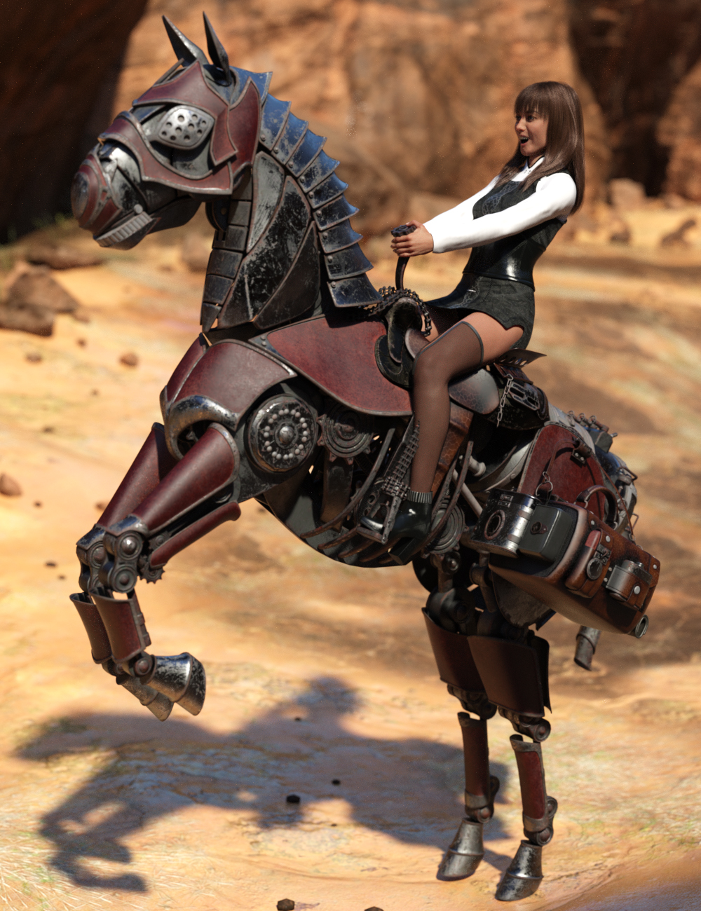 Steampunk Horse by: Charlie, 3D Models by Daz 3D