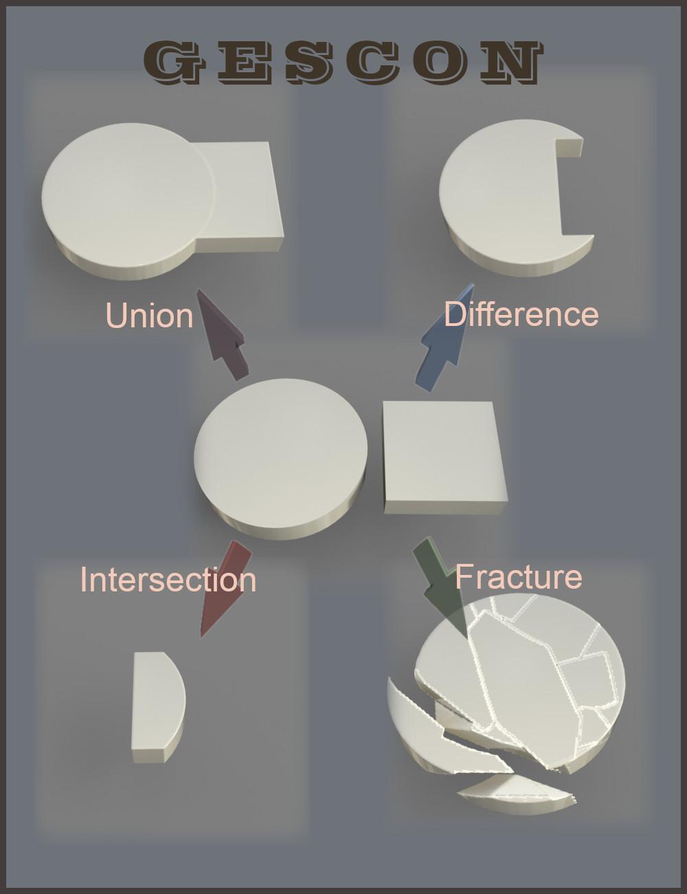 Gescon: Constructive Solid Geometry for Daz Studio by: Alvin Bemar, 3D Models by Daz 3D