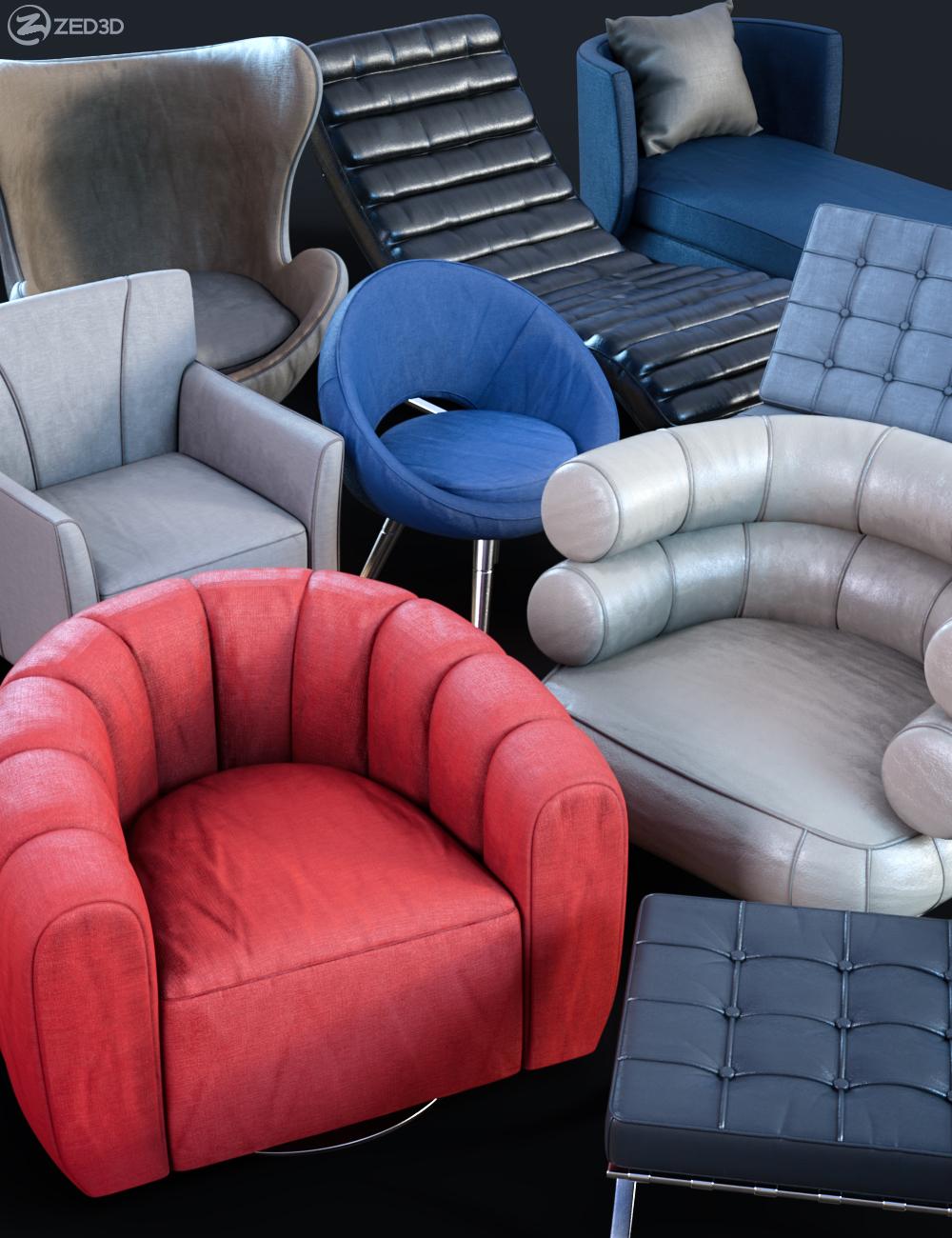Z Modern Seating Scene Essentials by: Zeddicuss, 3D Models by Daz 3D