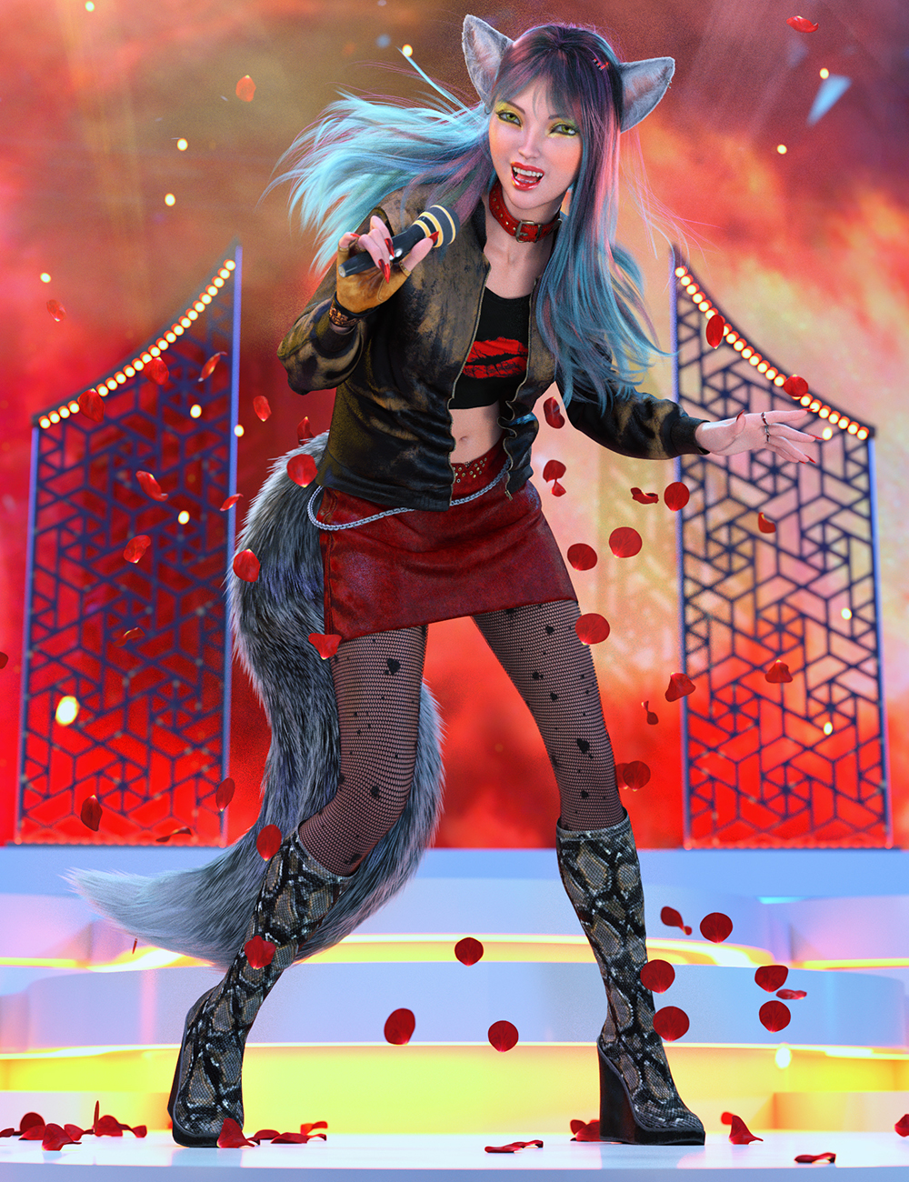 dForce Poison Love Outfit Textures by: Shox-Design, 3D Models by Daz 3D