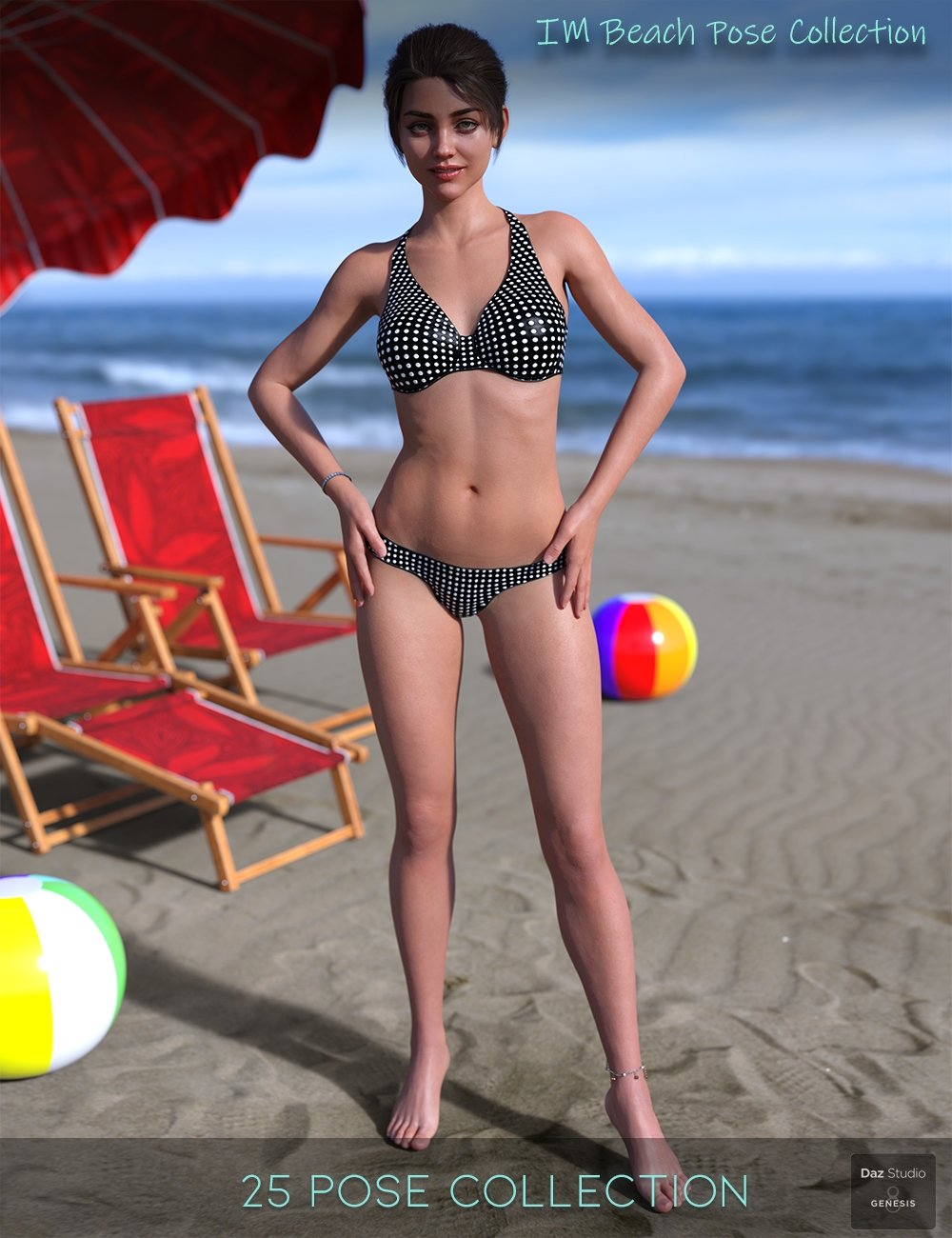 IM Beach Pose Collection for Genesis 8 Female by: Paper TigerIronman, 3D Models by Daz 3D