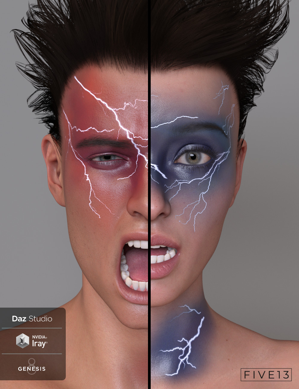 Lightning Cosmetics for Genesis 8.1 Males and Females by: Five13, 3D Models by Daz 3D