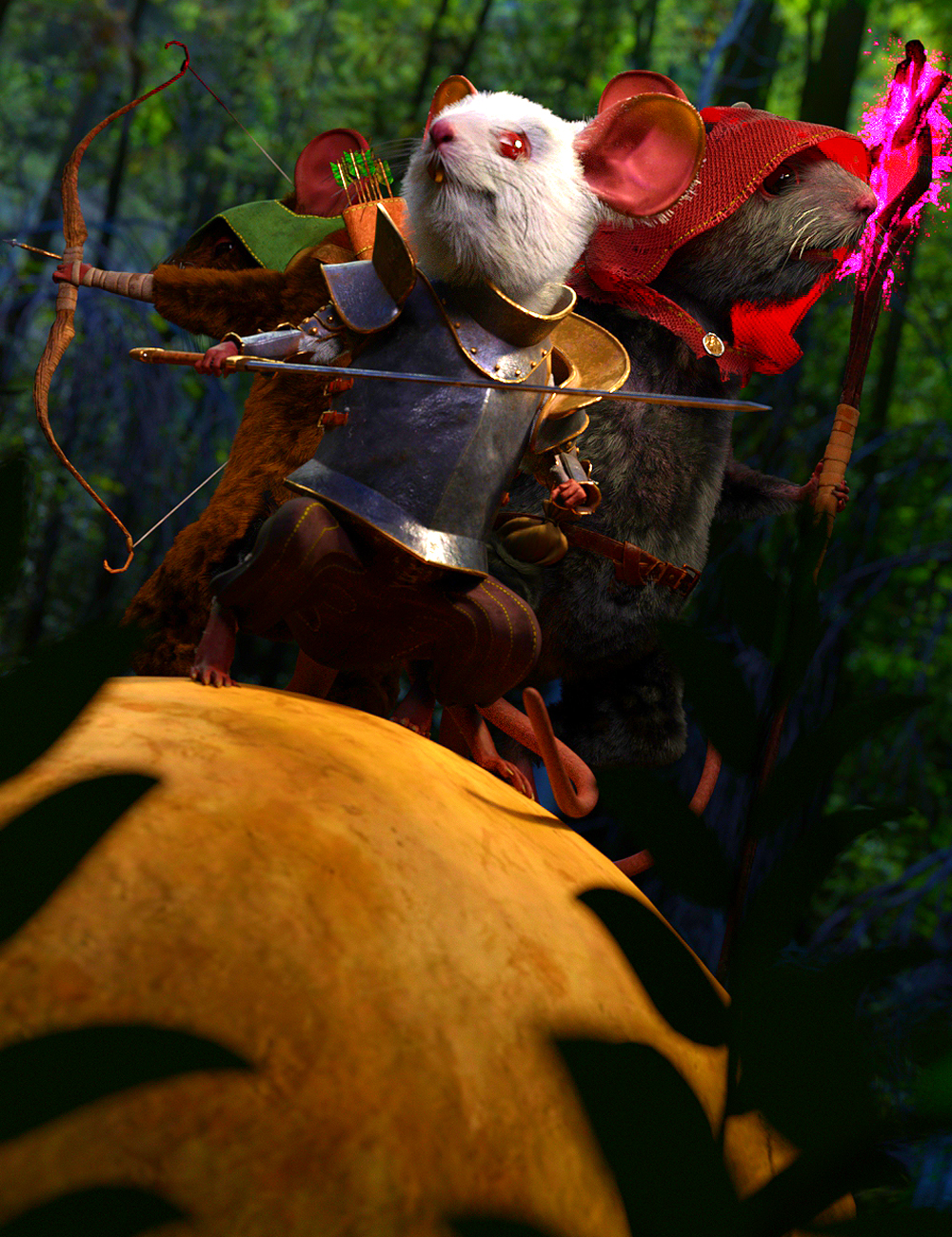 Storybook Mouse for Genesis 8.1 Males by: JoeQuick, 3D Models by Daz 3D