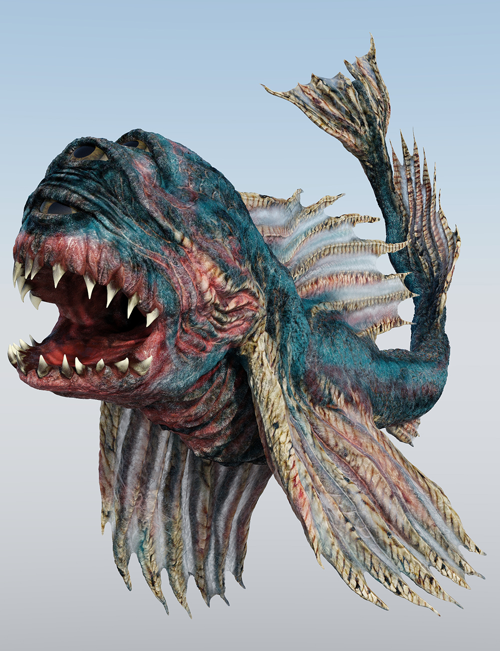Creatures of the Deep Triclogalodon by: Sixus1 Media, 3D Models by Daz 3D