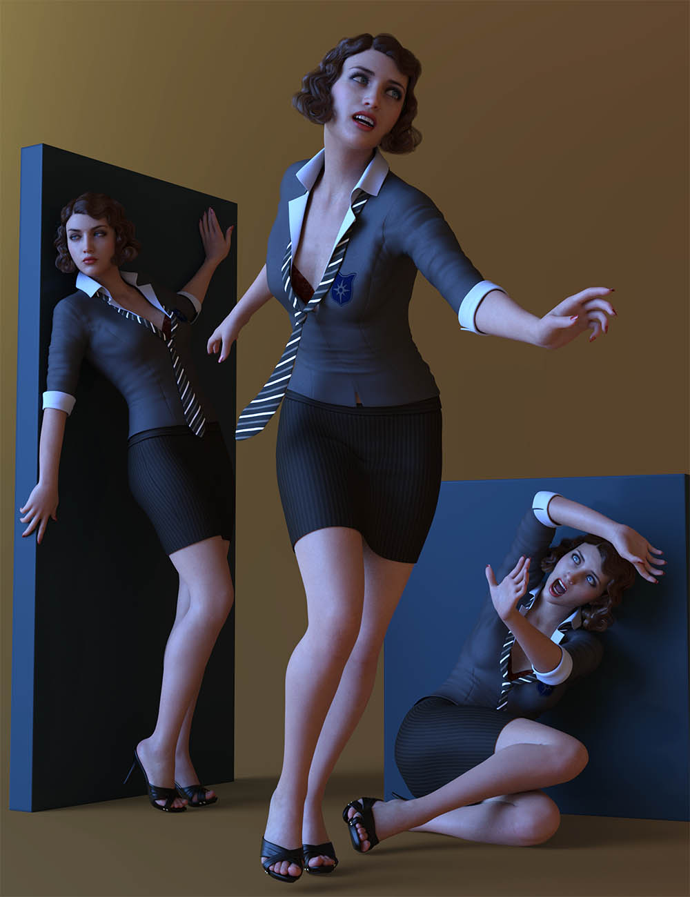 CDI Crime Cover Poses for Genesis 8.1 Female by: Capsces Digital Ink, 3D Models by Daz 3D