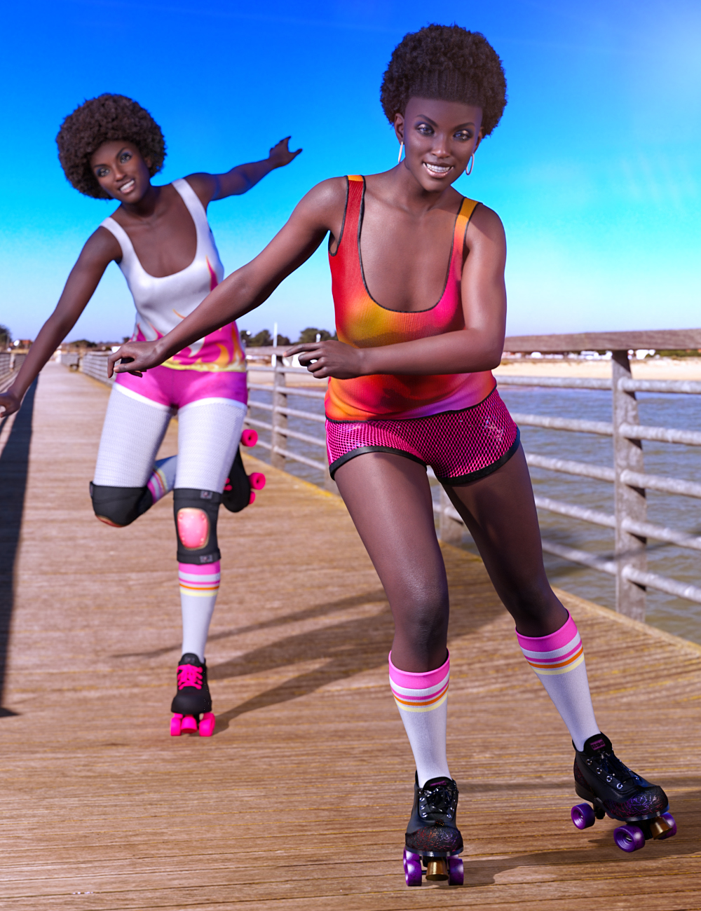 Z Undercover Rollergirl Poses and Expressions for Jada 8.1 by: Zeddicuss, 3D Models by Daz 3D