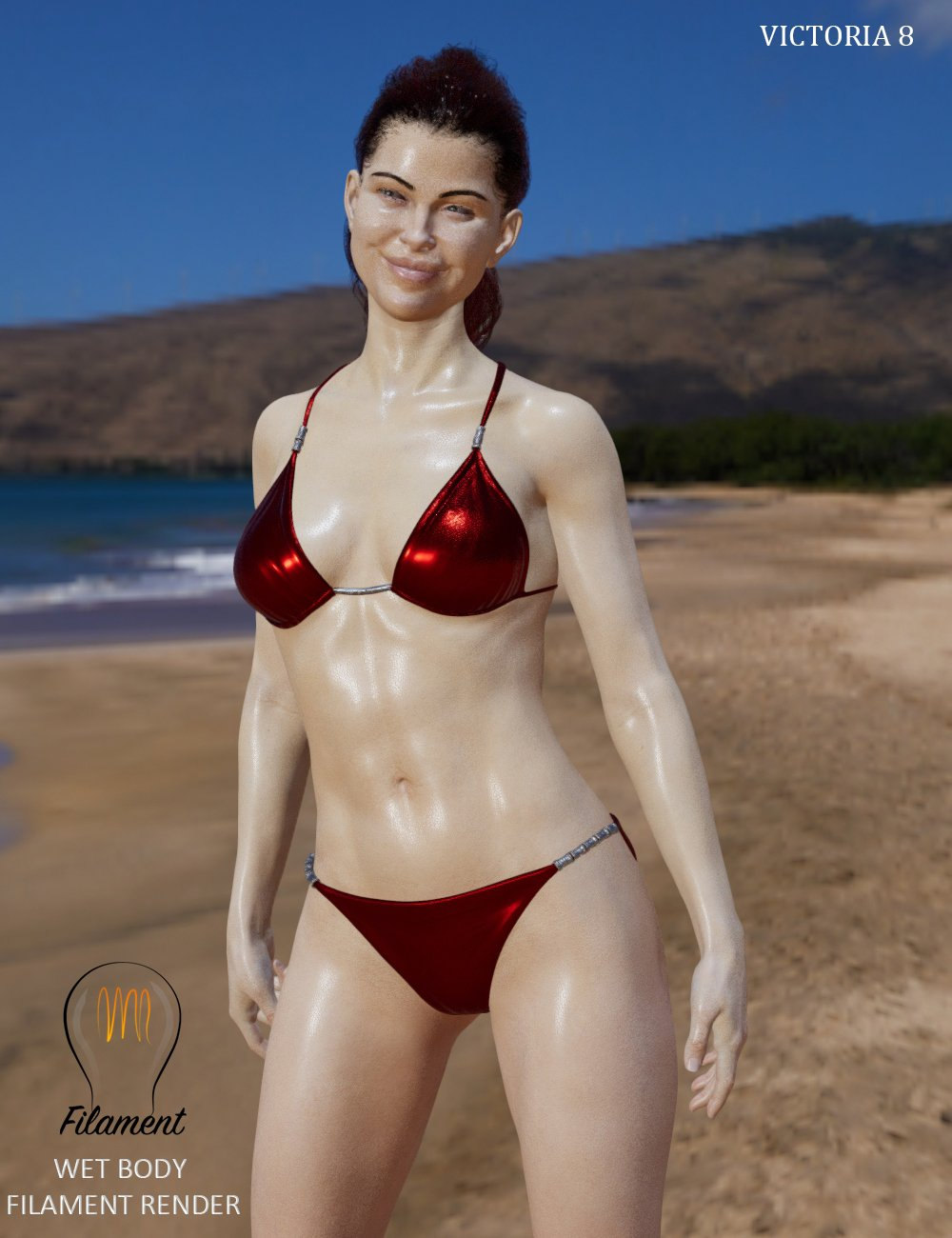 Wet Body Filament for Genesis 8 and 8.1 by: SimonWM, 3D Models by Daz 3D
