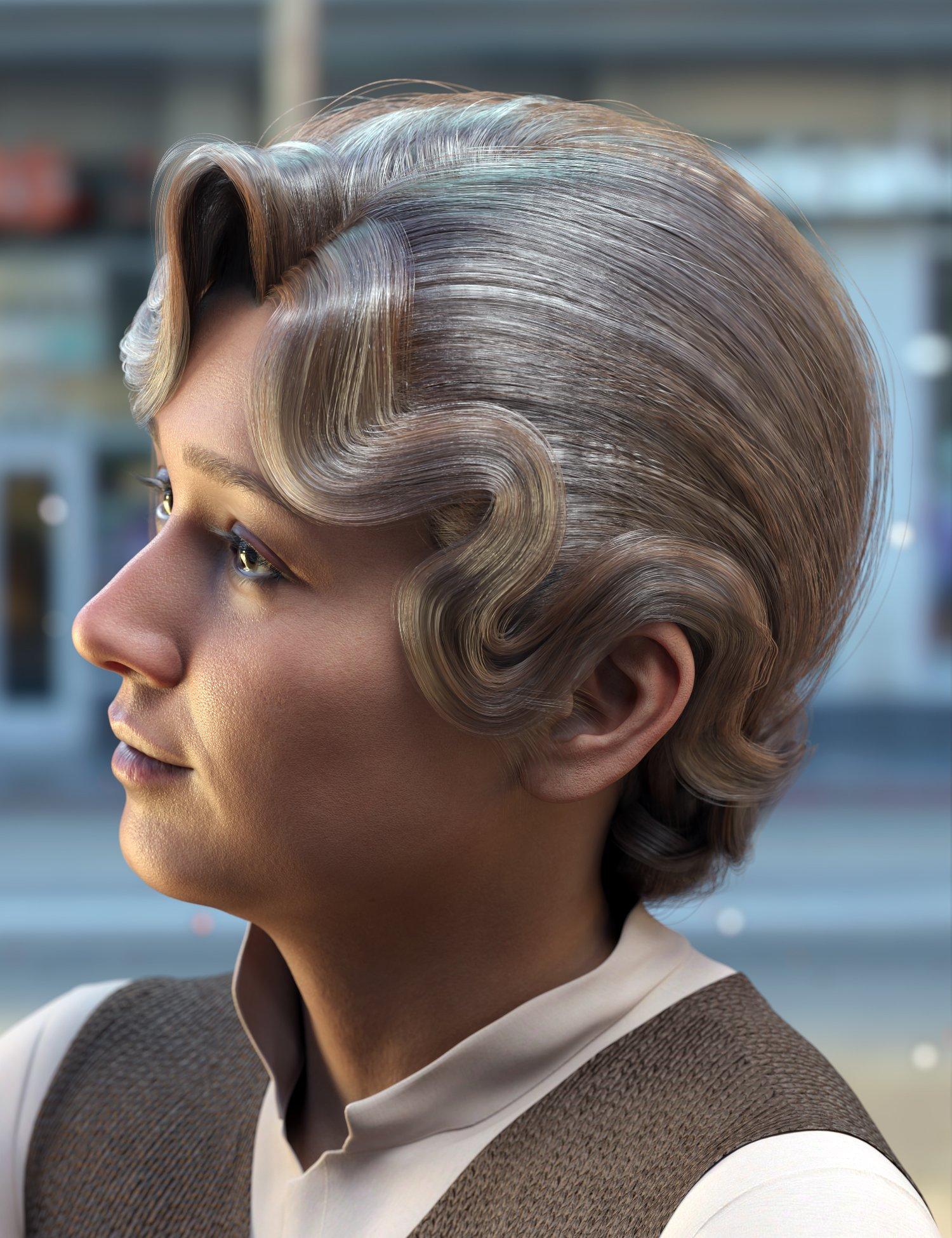 Qun Hair for Genesis 8.1 Females by: Ergou, 3D Models by Daz 3D