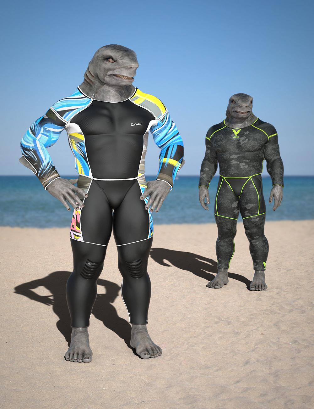 Bodysuit for Jawz Alternate Textures by: RedCrow3DArtOdyssey, 3D Models by Daz 3D