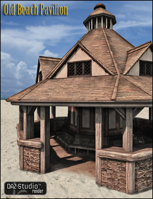 Old Beach Pavilion by: , 3D Models by Daz 3D