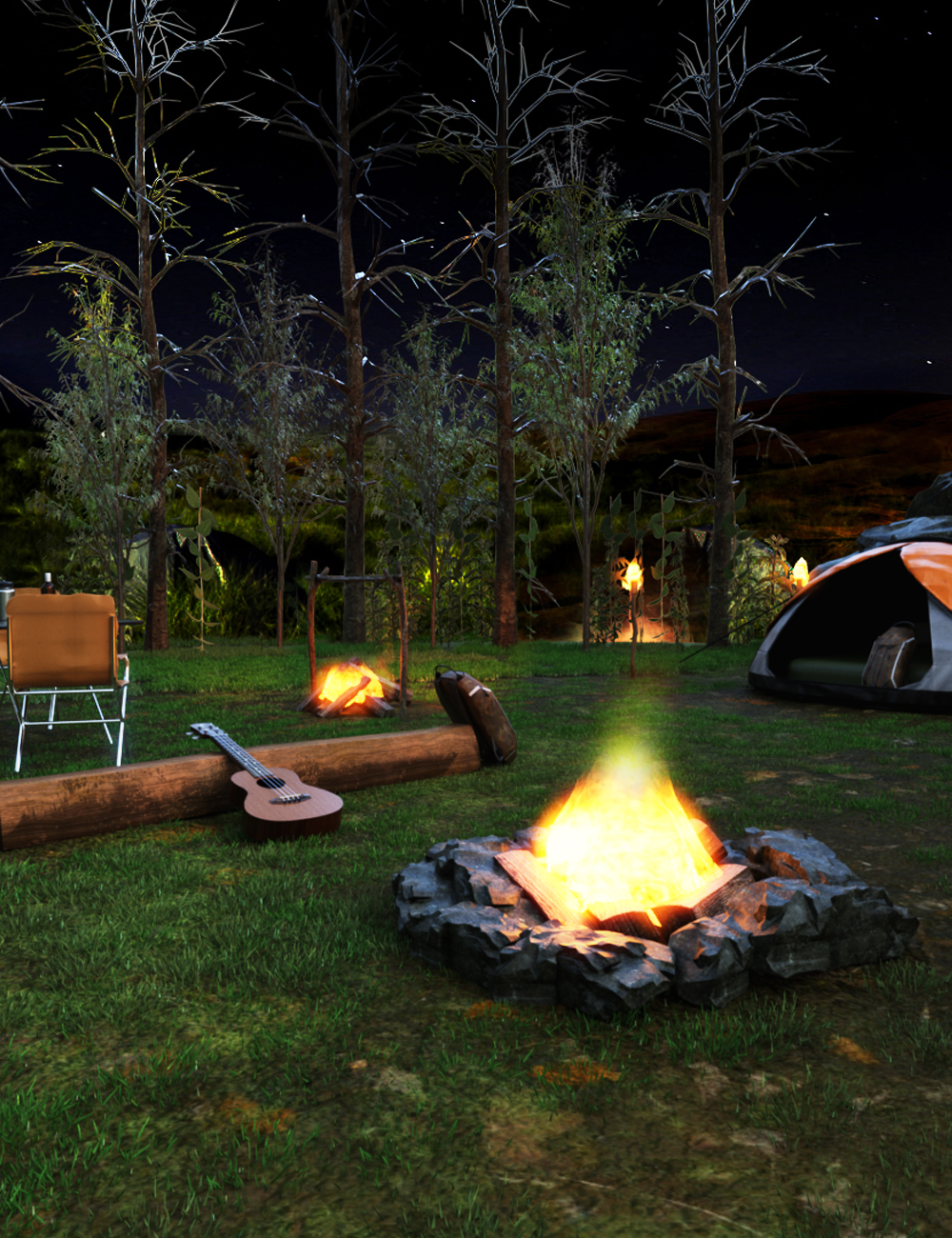 Camping Site by: clacydarch3d, 3D Models by Daz 3D